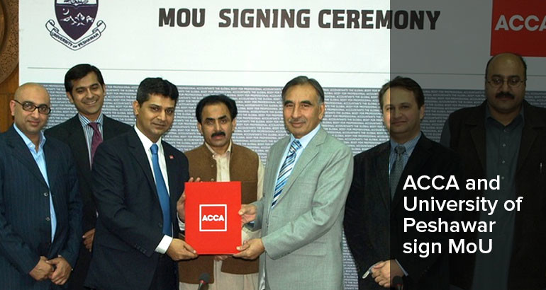ACCA Pakistan and Peshawar University sign MoU