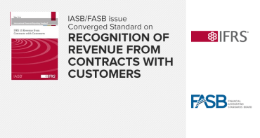 IASB FASB converged standard on revenue recogntion from customer contracts